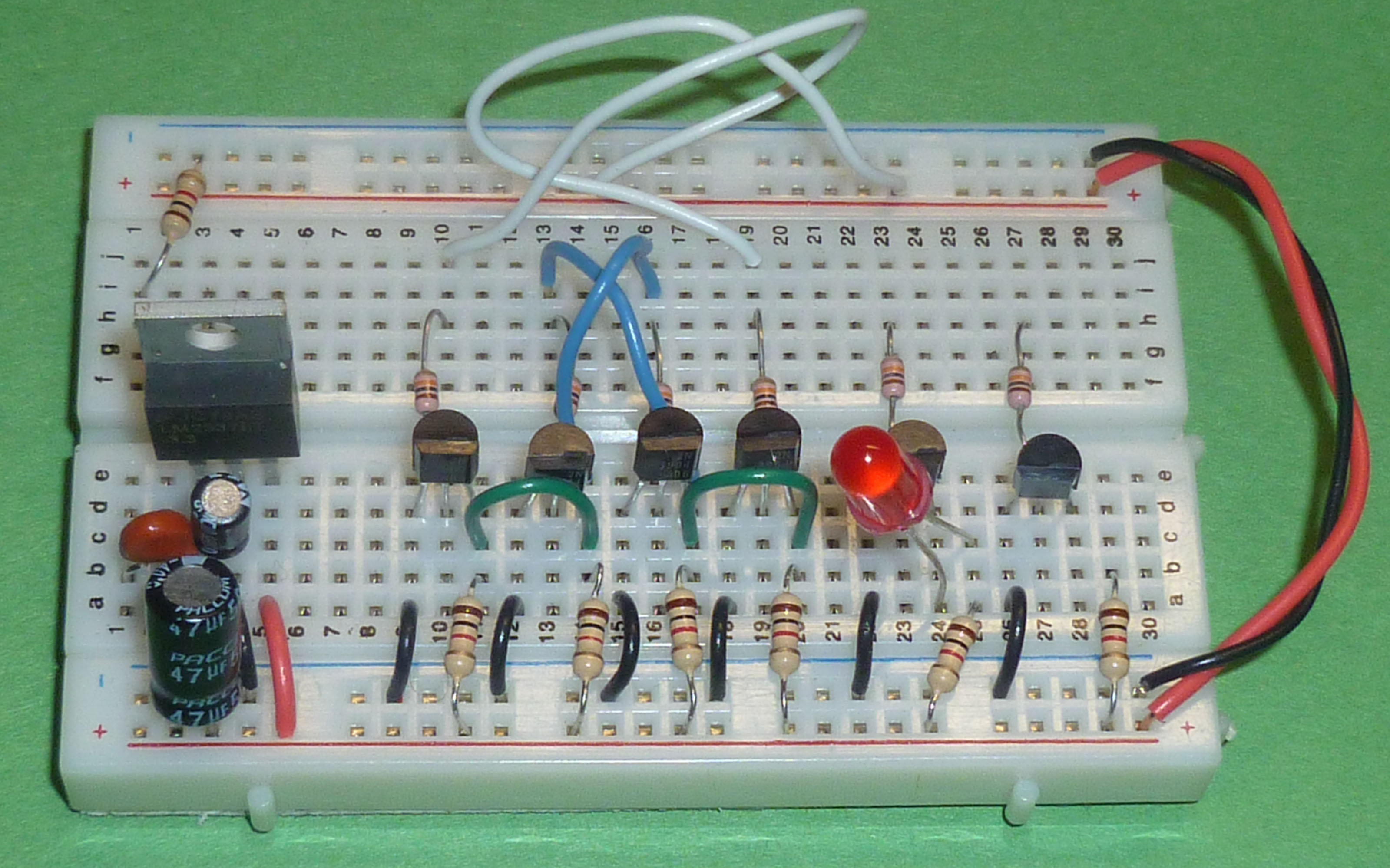 Csci 255 Breadboards Transistors And Gates Circuits Components Transistor As A Current