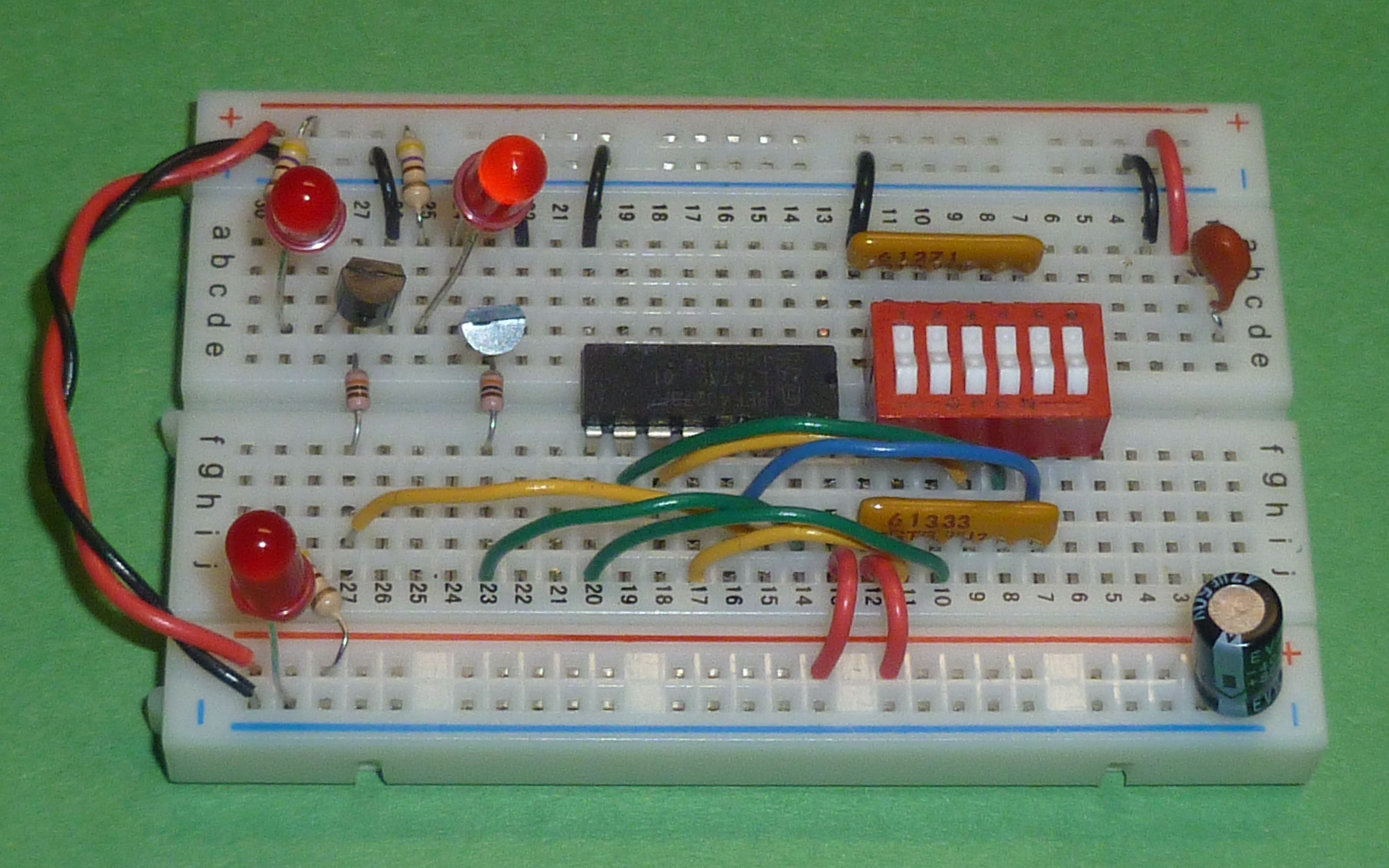 Csci 255 Breadboards Transistors And Gates Electronics Images Breadboard With Lsi Chip Transistor