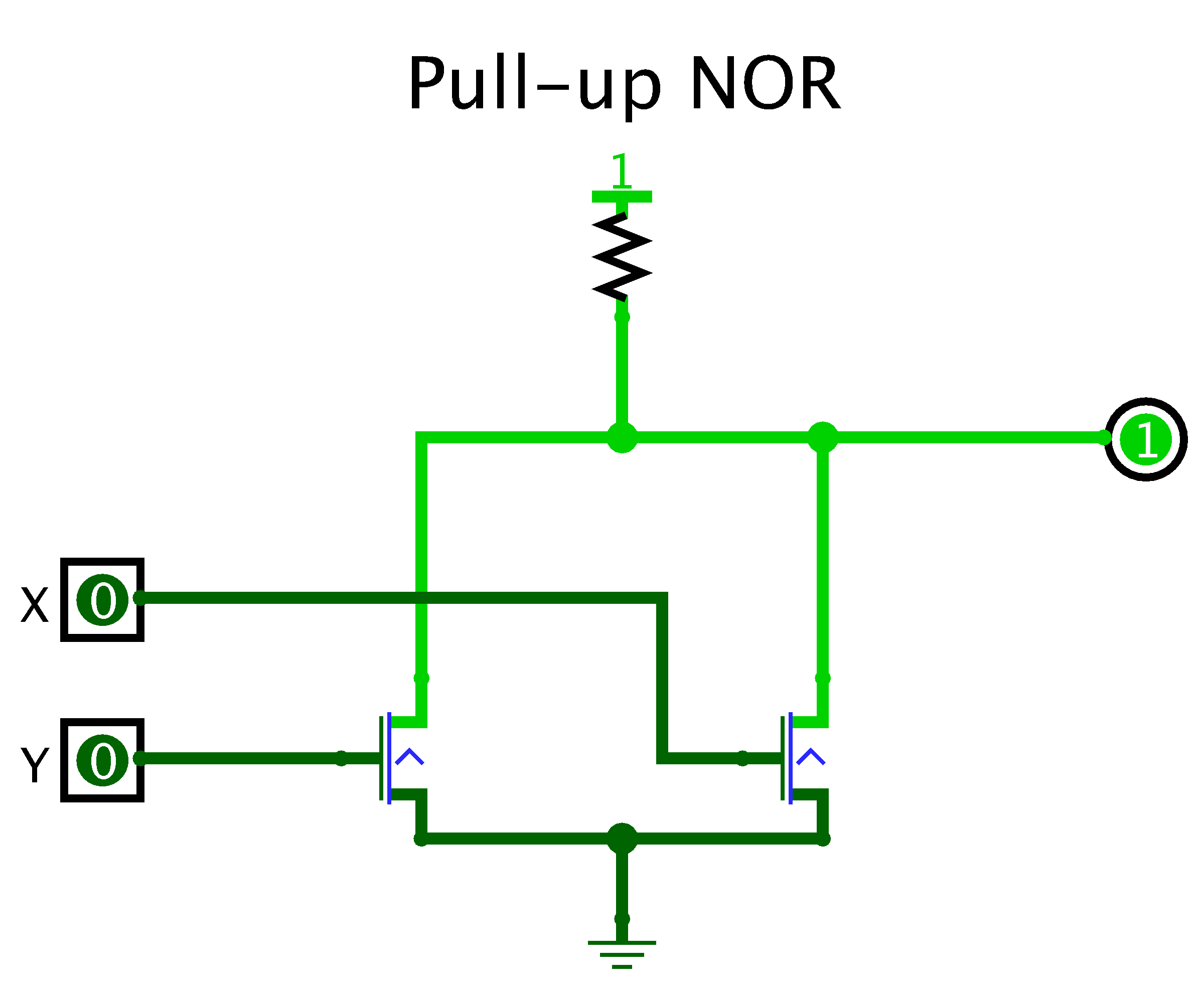 Csci 255 Building Logic Gates From Transistors Kinds Of Are I Npn Transistor Ii Pnp Pull Up And For Nor